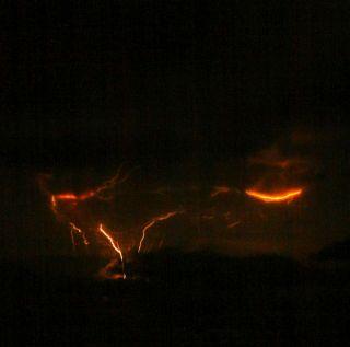 Redoubt lightning