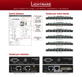 Lightware Supports 4K Switching and Signal Extension