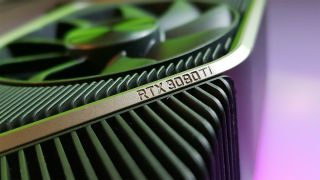 A bad photoshop of the words 'Ti' on an RTX 3080