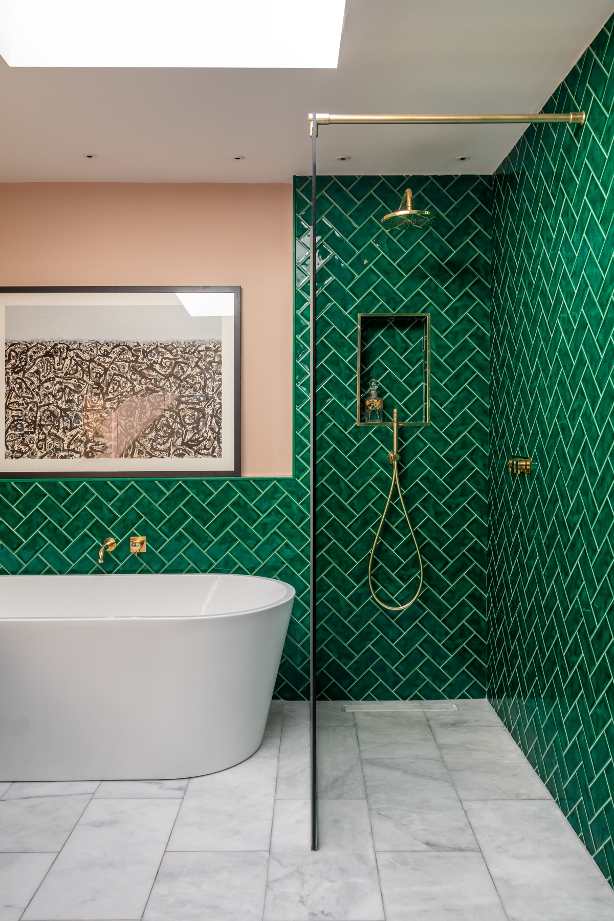 BRING COLOUR AND PATTERN INTO THE BATHROOM SAYS DESIGNER LUCY BARLOW