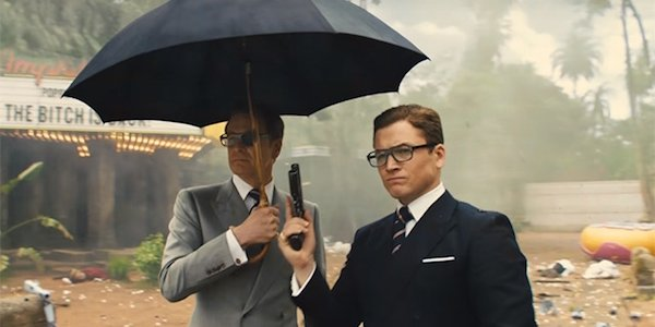 Eggsy and Harry in The Golden Circle