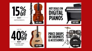 Save up to 50% in Music & Art's massive musical instrument sale: ukuleles, guitars, violins, clarinets and more