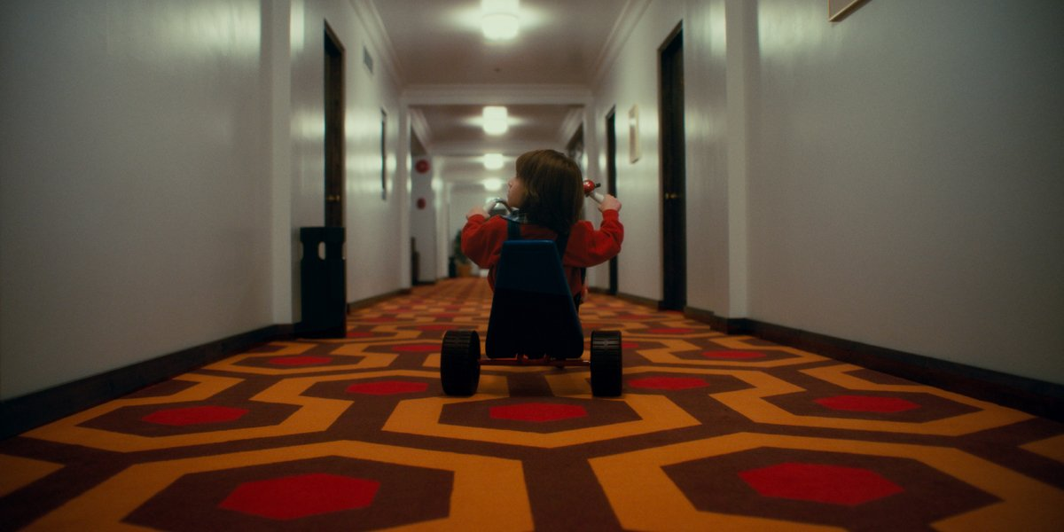 Danny peddles in the Overlook Hotel in Doctor Sleep