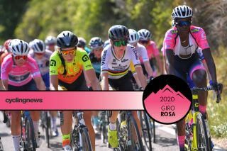 ARCIDOSSO, ITALY - SEPTEMBER 12: Annemiek Van Vleuten of The Netherlands and Team Mitchelton - Scott / Teniel Campbell of Trinidad and Tobago and Team Valcar - Travel & Service / during the 31st Giro d'Italia Internazionale Femminile 2020, Stage 2 a 124,8km stage from Civitella Paganico to Arcidosso / @GiroRosaIccrea / #GiroRosa / on September 12, 2020 in Arcidosso, Italy. (Photo by Luc Claessen/Getty Images)