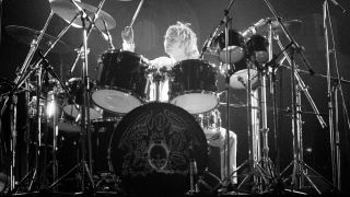 Queen's Roger Taylor on stage, 1977