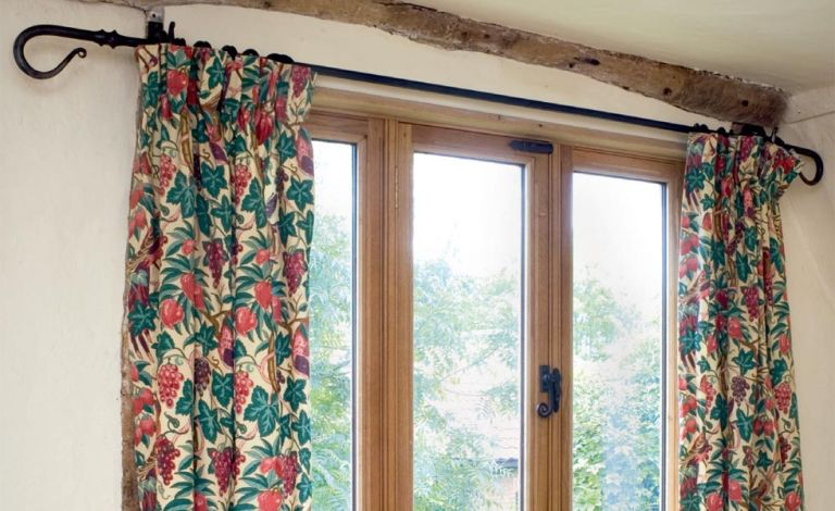 How To Put Up A Curtain Pole Real Homes