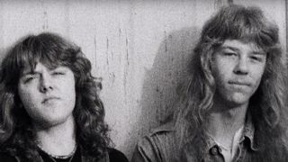 Lars Ulrich and James Hetfield in the 1980s