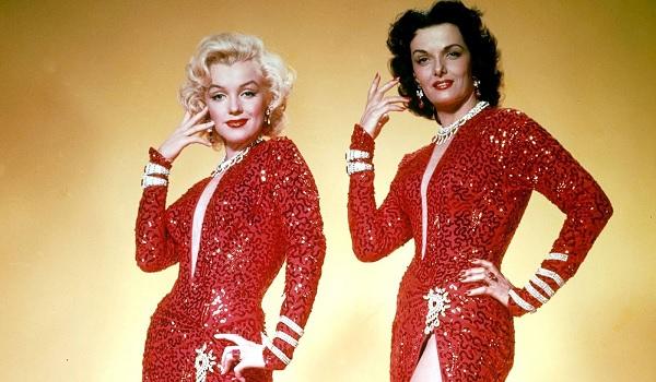 Gentlemen Prefer Blondes Marilyn Monroe Jane Russell hair flip