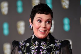 Olivia Colman at the the 73rd British Academy Film Awards in London.