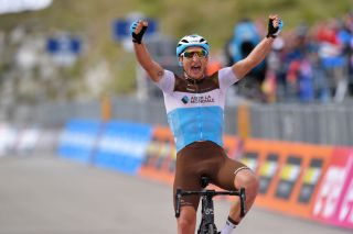 AG2R La Mondiale's Nans Peters takes his first professional victory on stage 17 of the 2019 Giro d'Italia