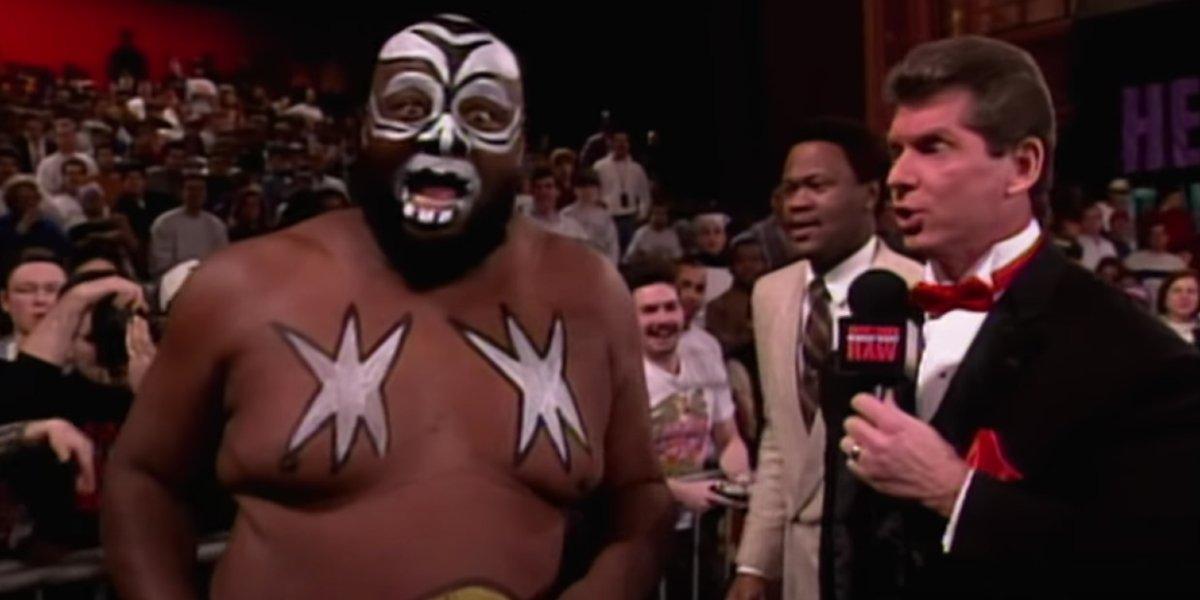 Kamala and Vince McMahon on Monday Night Raw
