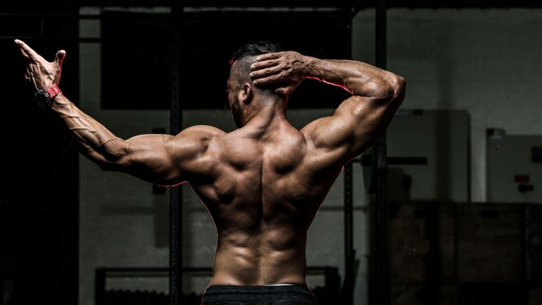 Best back workout: man with muscular back