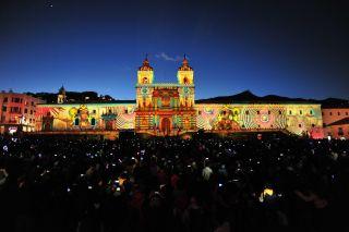 Christie Powers the Fiesta de la Luz in Ecuador