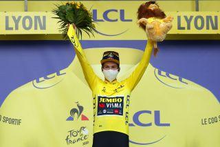 Tour de France 2020 - 107th Edition - 14th stage Clermont Ferrand - Lyon 194 km - 12/09/2020 - Primoz Roglic (SLO - Team Jumbo - Visma) - photo Luca Bettini/BettiniPhoto©2020