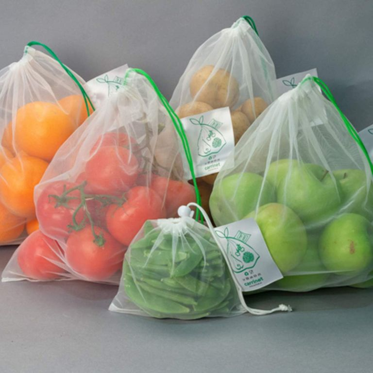 combatting plastic waste: Veggio reusable bags by Carrinet