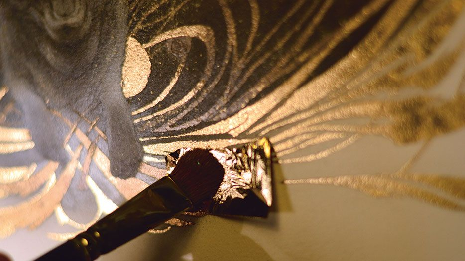 How To Use Gold Leaf In Your Multimedia Art Creative Bloq