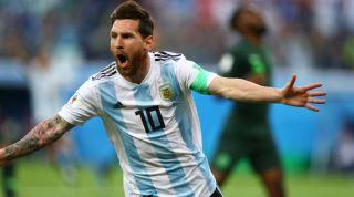 Lionel Messi Argentina celebrates