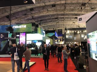 The show floor at ISE 2020.