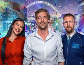 Join Peter Crouch, Maya Jama and Alex Horne for some late night post-football fun.