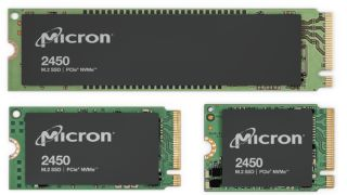 Images of the new Micron 2450-series SSDs