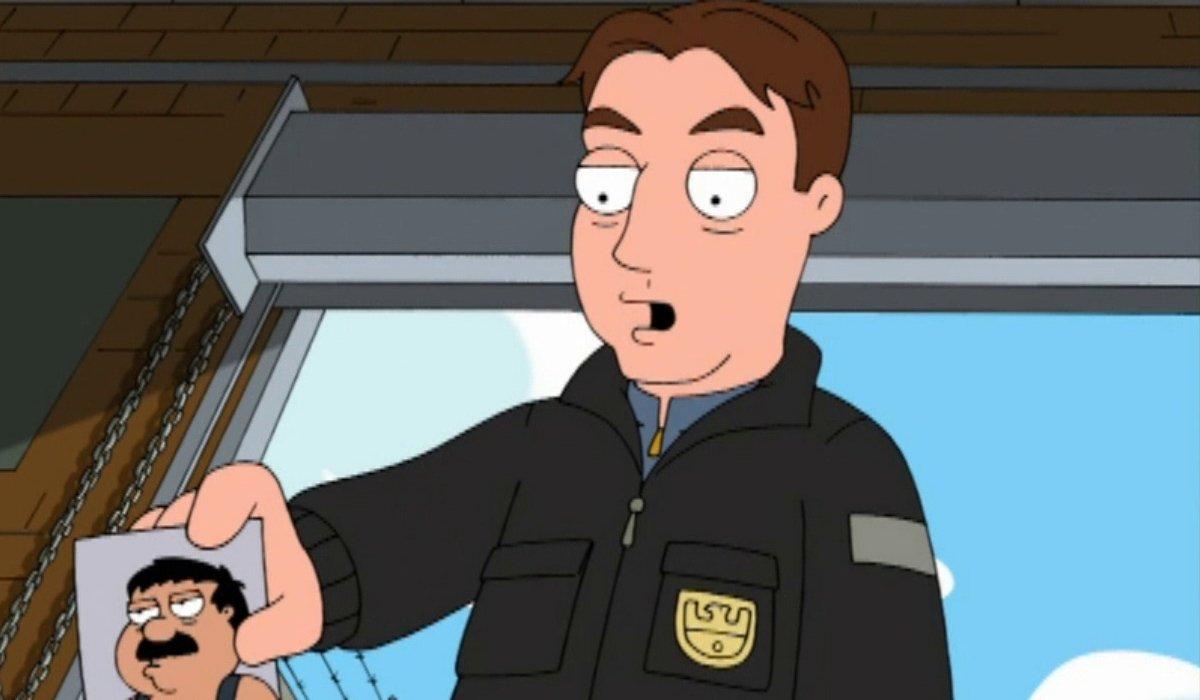 Family Guy animated version of Mark Harmon as Gibbs
