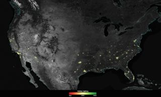 holiday lights, satellite images