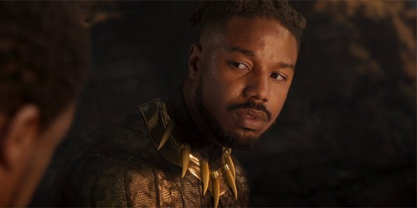 Killmonger (Michael B Jordan) dying in Black Panther