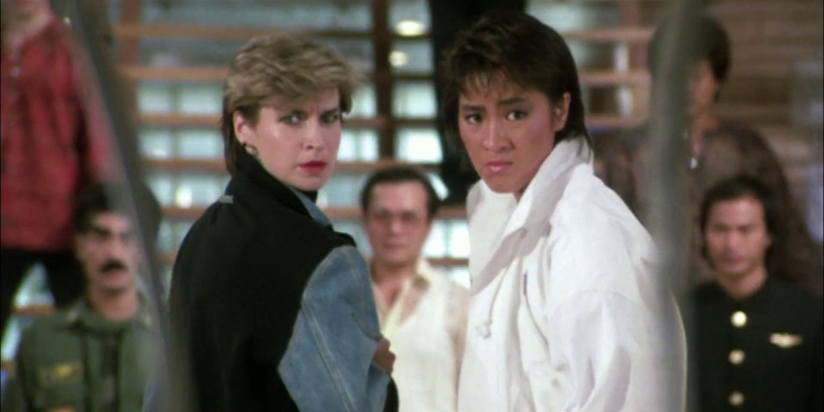 Cynthia Rothrock and Michelle Yeoh in Yes, Madam!