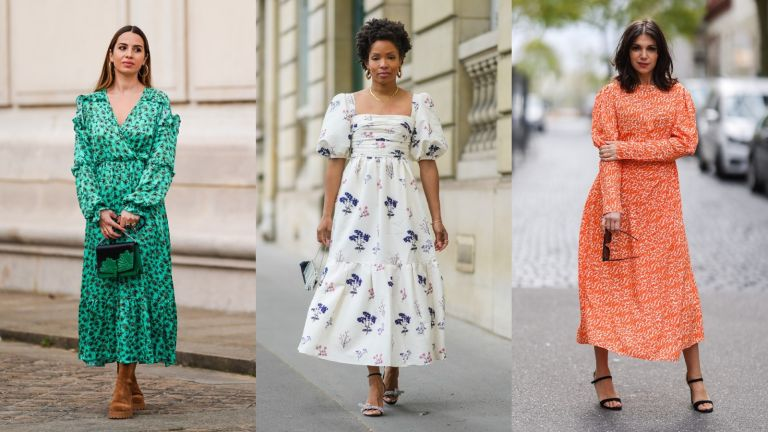 street style models wearing the best dresses for summer