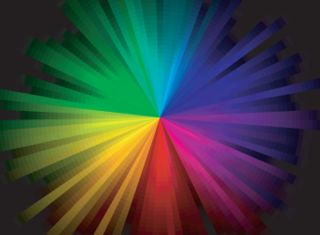 rainbow burst background