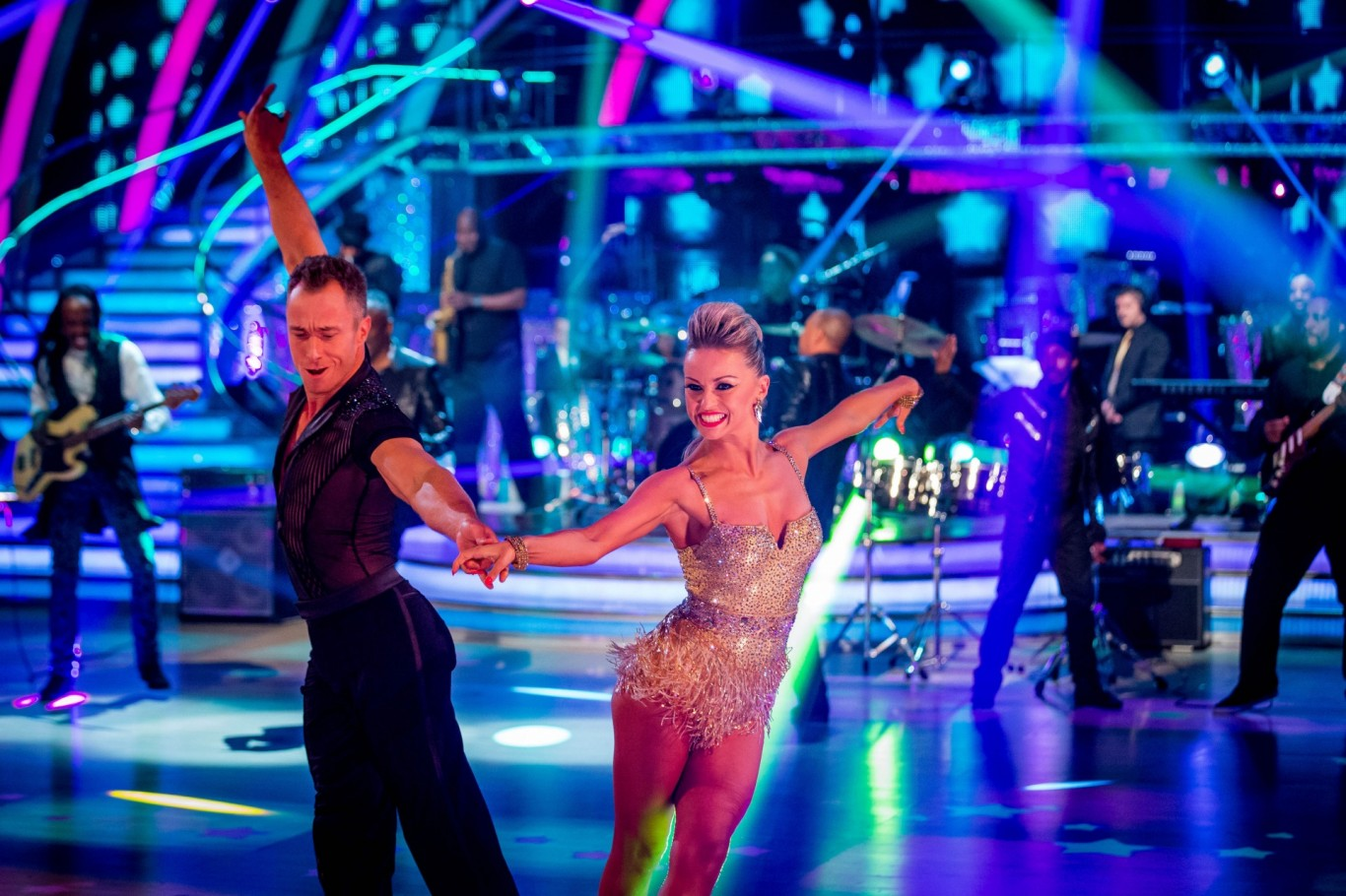 James Jordan dancing with wife Ola on Strictly