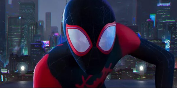 Miles Morales close up Spider-Man: Into The Spider-Verse