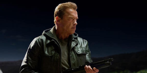 Arnold with a shotgun in Genisys