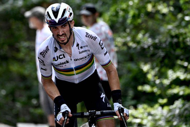 Julian Alaphilippe riding at the Tour de France 2021