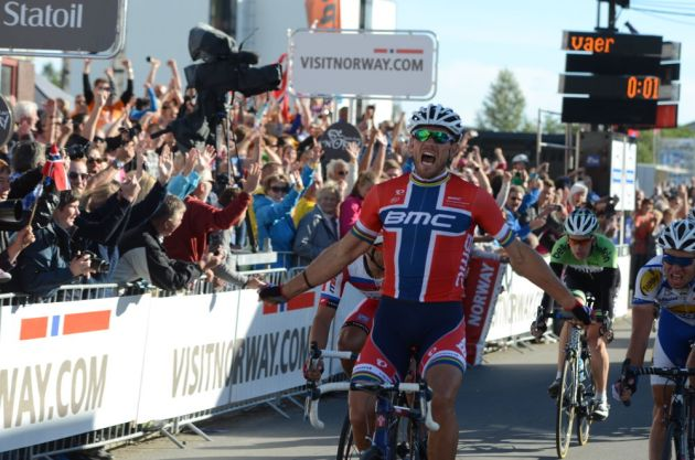 Thor Hushovd takes home glory, Arctic Race of Norway 2013, stage two
