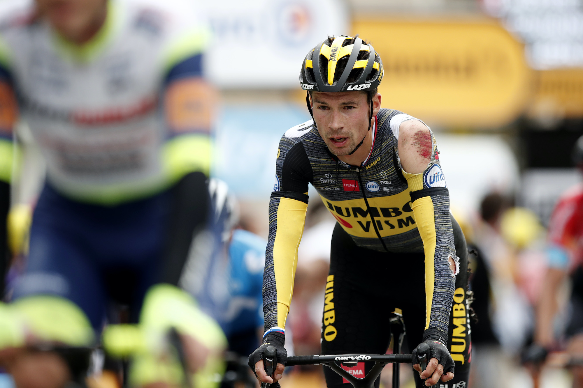 Primoz Roglic on stage three of the 2021 Tour de France