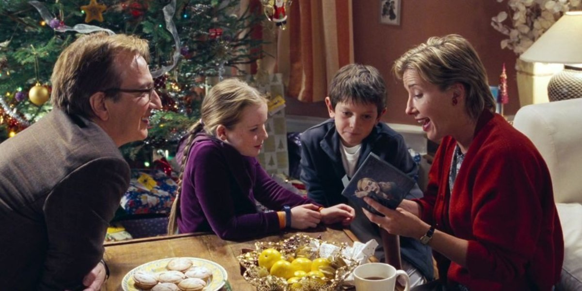 Alan Rickman and Emma Thompson in Love Actually