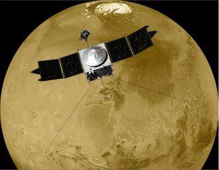Illustration of MAVEN in Orbit