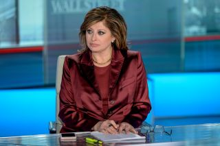 "Maria Bartiromo during a Jan. 10, 2020 episode of ""Maria Bartiromo's Wall Street"" at Fox Business Network Studios in New York City."