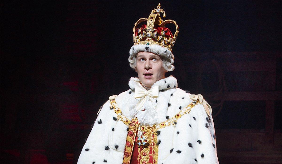 Jonathan Groff as King George in Hamilton
