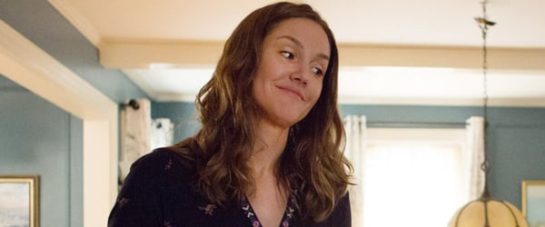 The Dangerous Book For Boys Erinn Hayes looking down at her son off screen