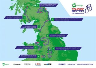 The route of the 2019 Tour of Britain