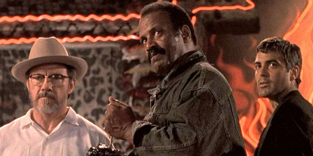 Harvey Keitel, Fred Williamson and George Clooney in From Dusk Till Dawn