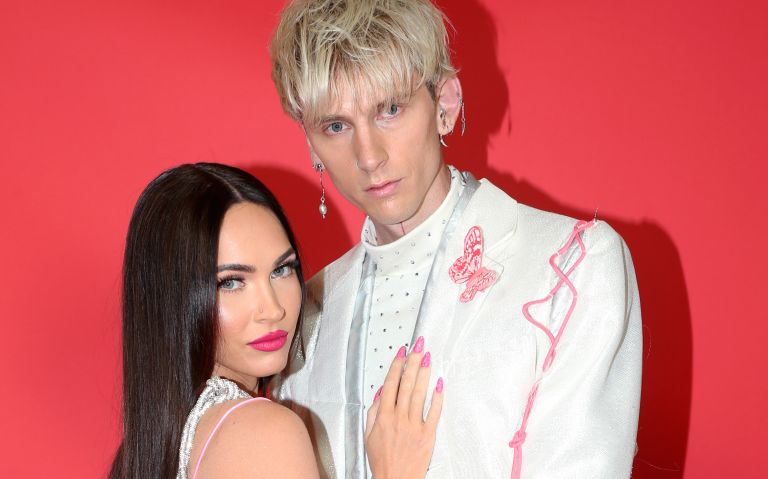 MGK and Megan Fox attend the 2021 iHeartRadio Music Awards at The Dolby Theatre in Los Angeles, California, which was broadcast live on FOX on May 27, 2021