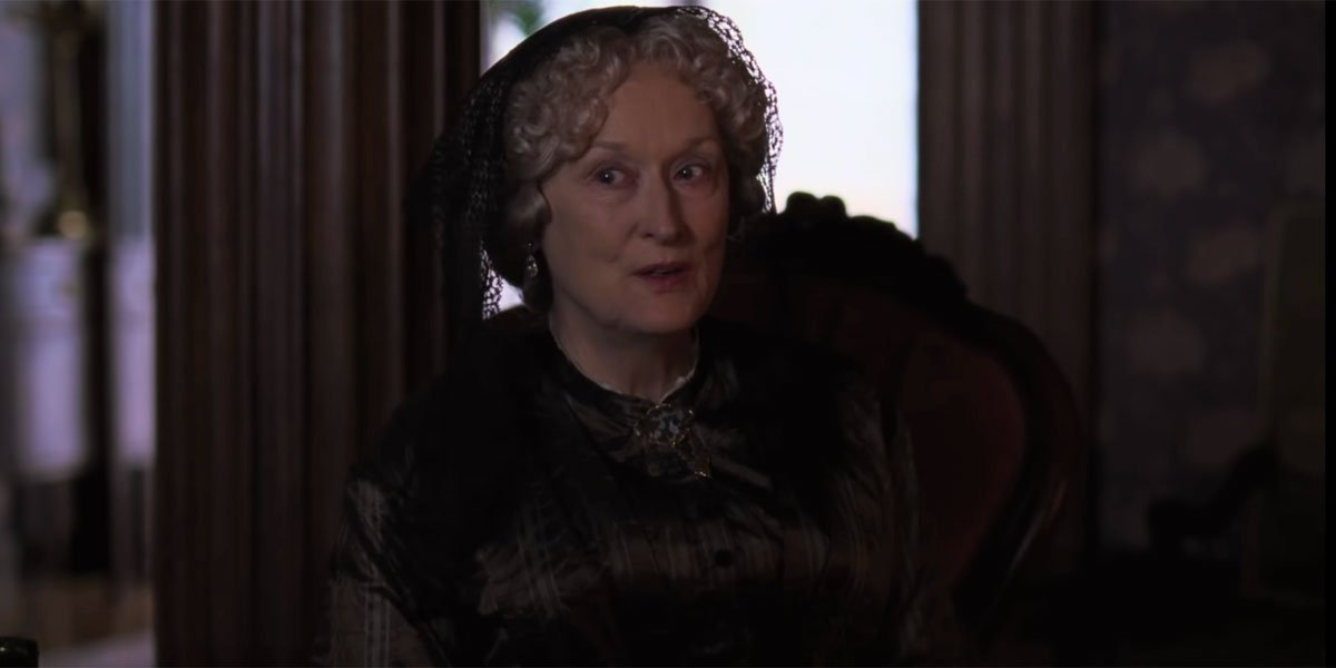 Aunt March as played by Meryl Streep in Little Women 2019