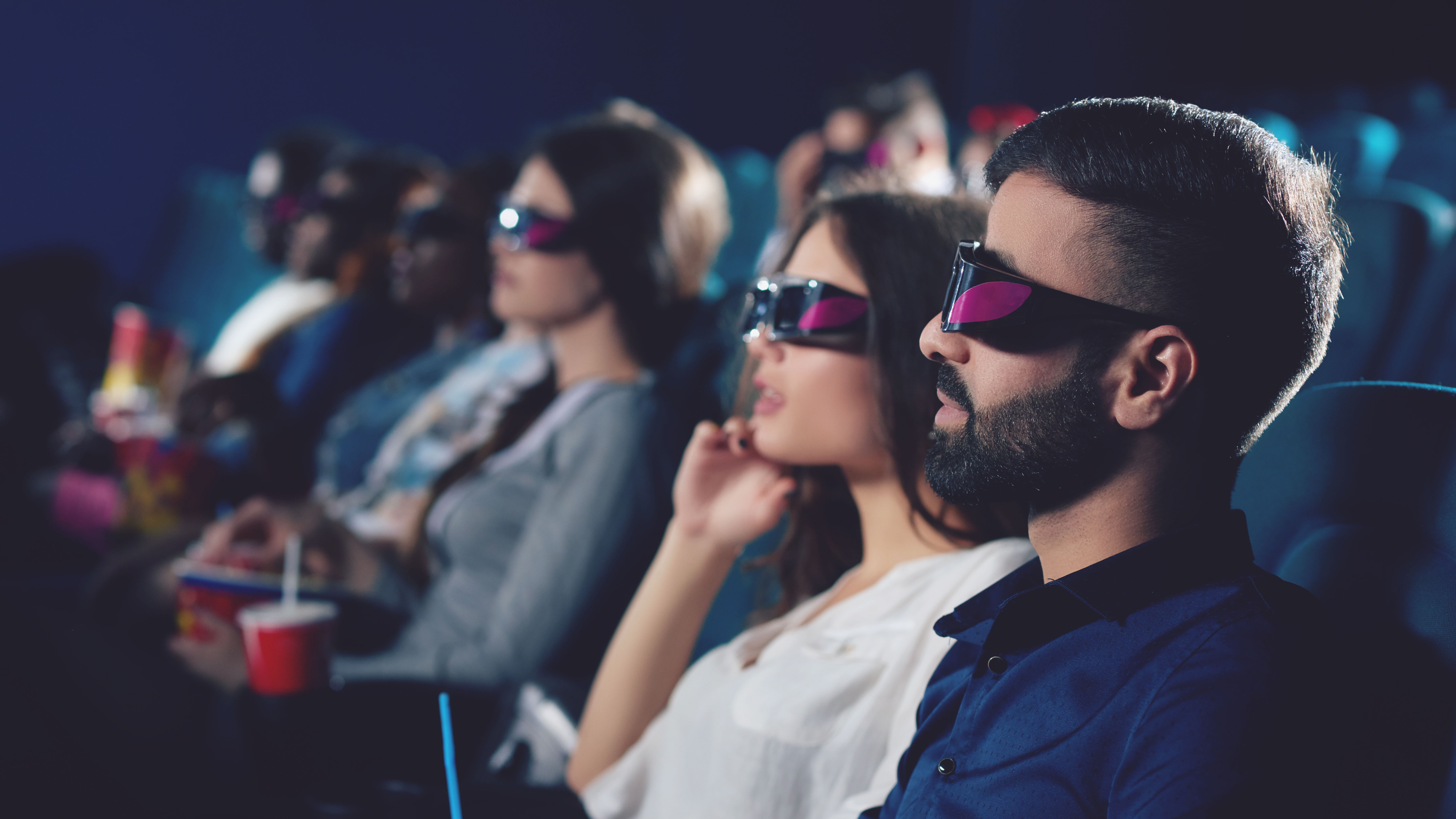 Movie night with 3D glasses