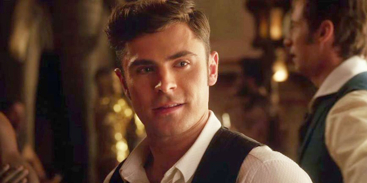 Phillip Carlyle (Zac Efron) smiles in a scene from The Greatest Showman