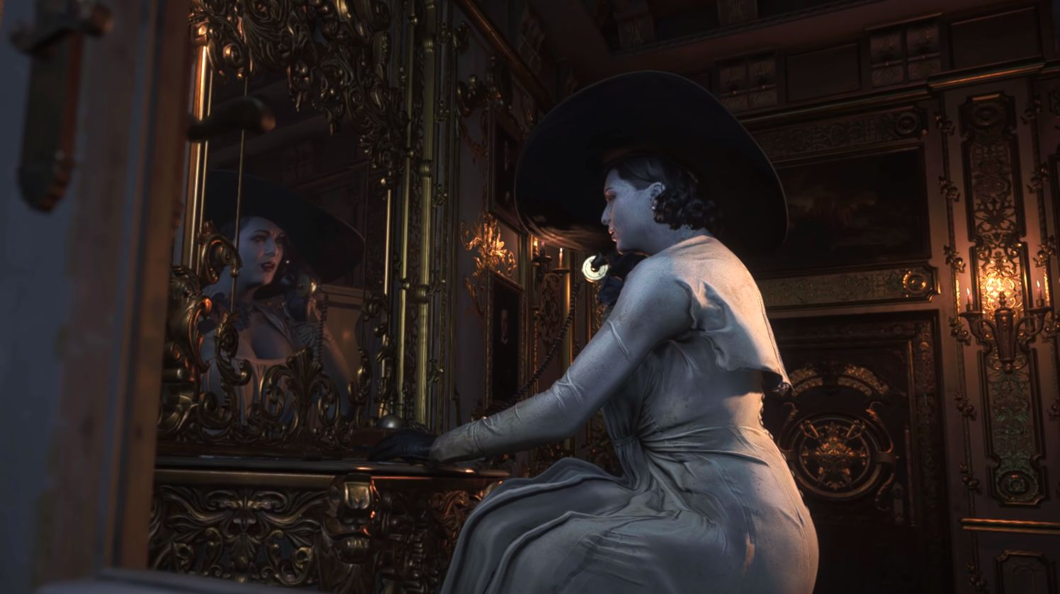 Watch 5 minutes of Resident Evil Village gameplay with tactical reloads and, yes, Lady D