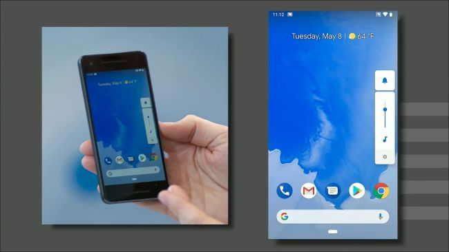 Volume slider and screen rotation Android Pie