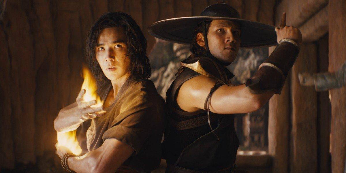 Liu Kang (Lewis Tan) and Kung Lao (Max Huang) are ready for action in Mortal Kombat (2021)